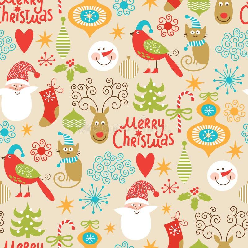 Naadloze Kerstmisachtergrond stock illustratie