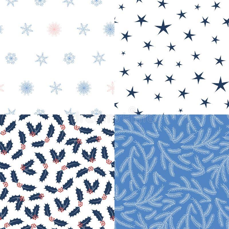 Naadloze Kerstmispatronen vector illustratie