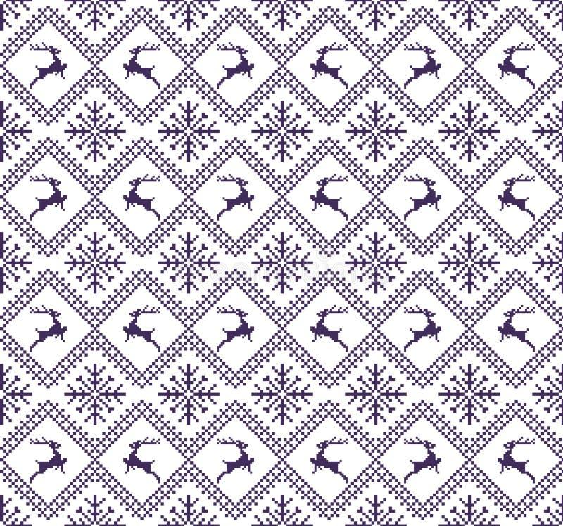 Naadloze Kerstmispatronen stock illustratie