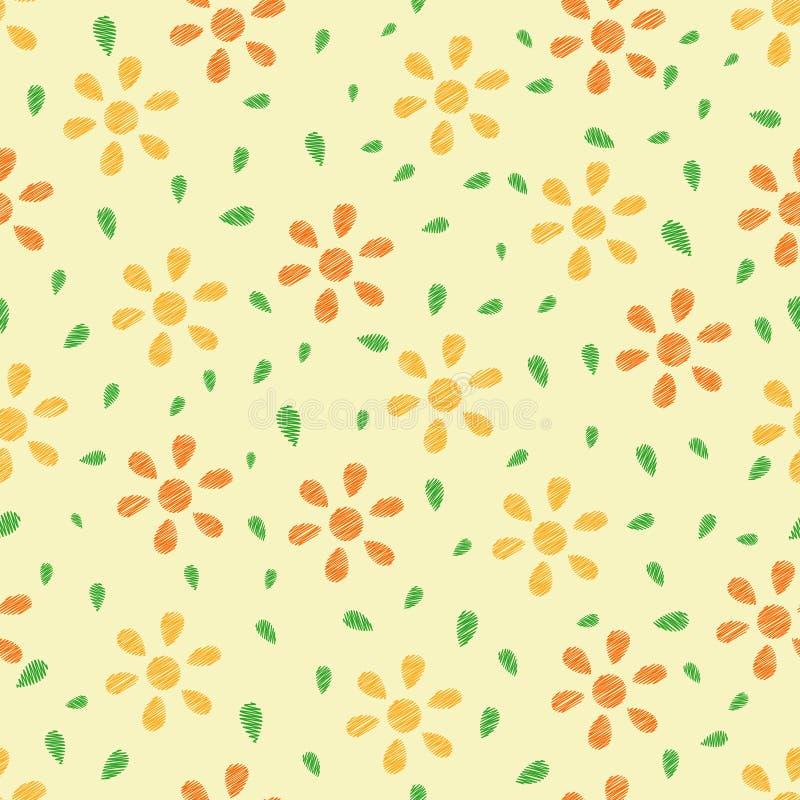 Naadloze kleurrijke bloemenachtergrond stock illustratie
