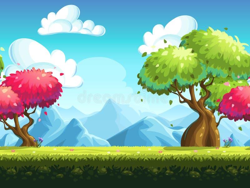 Naadloze kleurrijke bomen als achtergrond vector illustratie