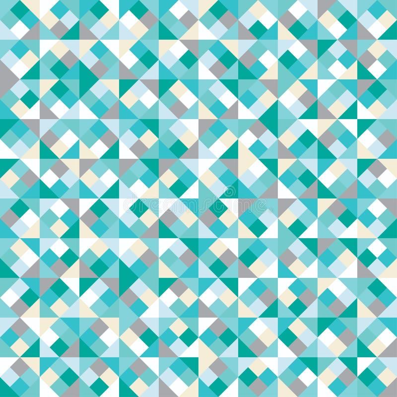 Naadloze kleurrijke decoratieve achtergrond met geometrische vormen stock illustratie