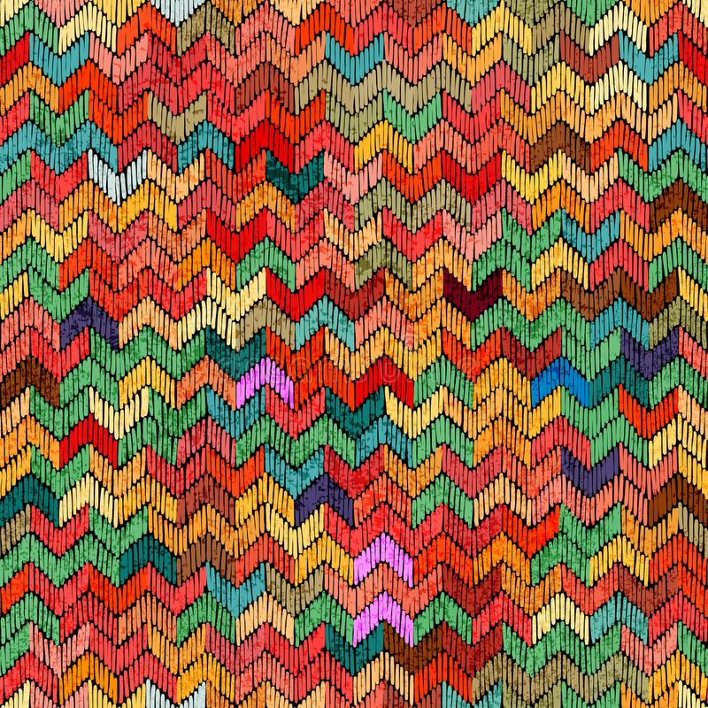 Naadloze kleurrijke druk Uitstekend leuk gestreept patroon Multicolo royalty-vrije illustratie