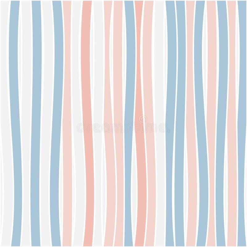 Naadloze kleurrijke gestreepte golfachtergrond royalty-vrije illustratie