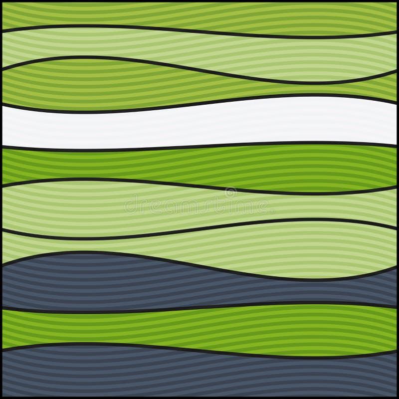 Naadloze kleurrijke gestreepte golfachtergrond vector illustratie