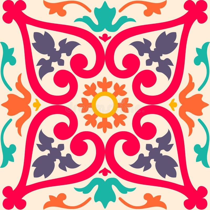 Naadloze kleurrijke ornamenttegels vector illustratie