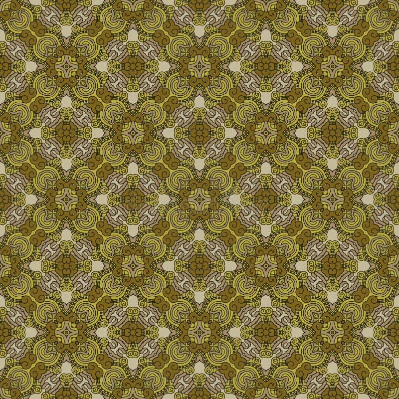 Naadloze kleurrijke retro patroonachtergrond stock illustratie