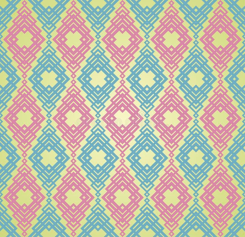 Naadloze Kleurrijke Retro Patroonachtergrond vector illustratie