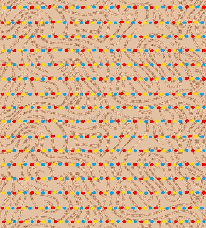 Naadloze kleurrijke streep met achtergrondtextuur vector illustratie