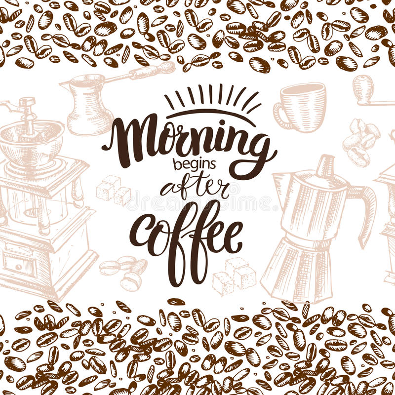Naadloze Koffie stock illustratie