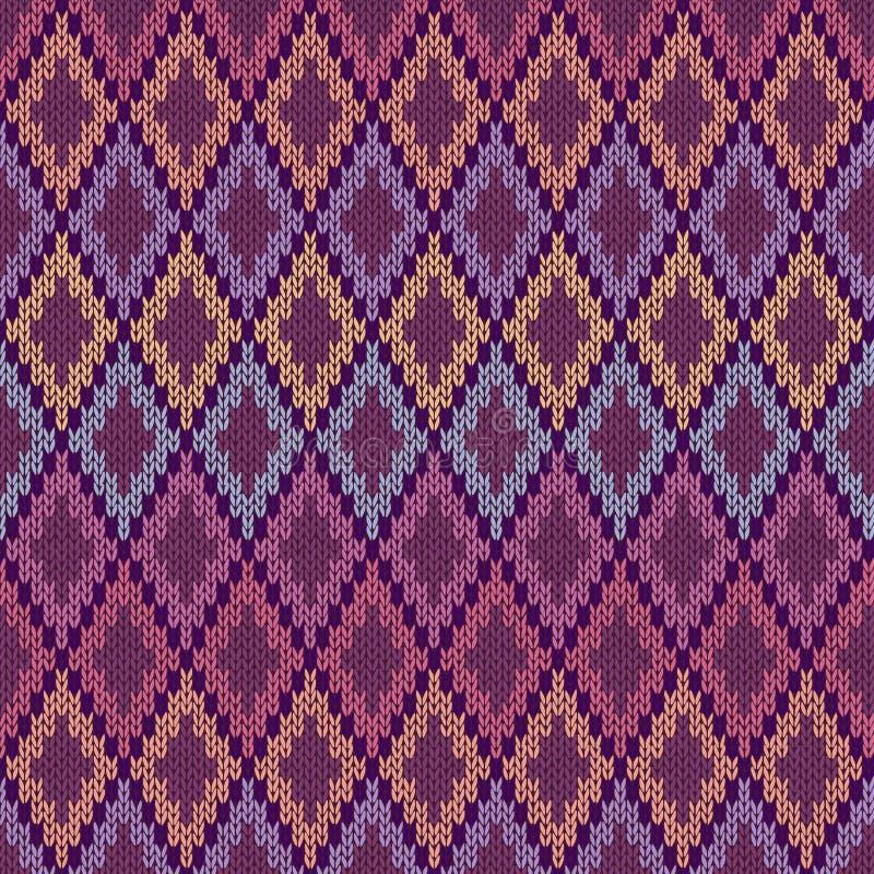 Naadloze Lichte Baby Textielachtergrond van de Kleur Gebreide Vierkanten van de Wolgingang stock illustratie