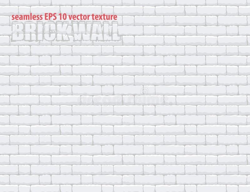 Naadloze lichtgrijze witte de bakstenen muur vectorachtergrond van het textuurpatroon Eps 10 royalty-vrije illustratie