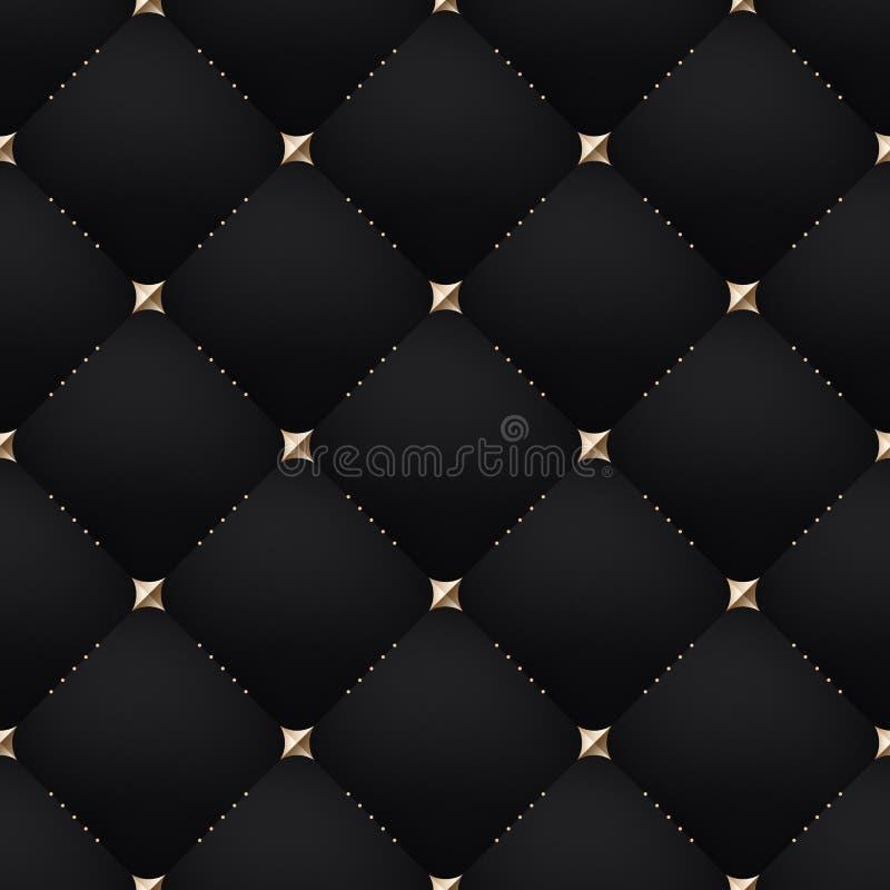 Naadloze luxe donkere zwarte patroon en achtergrond royalty-vrije illustratie