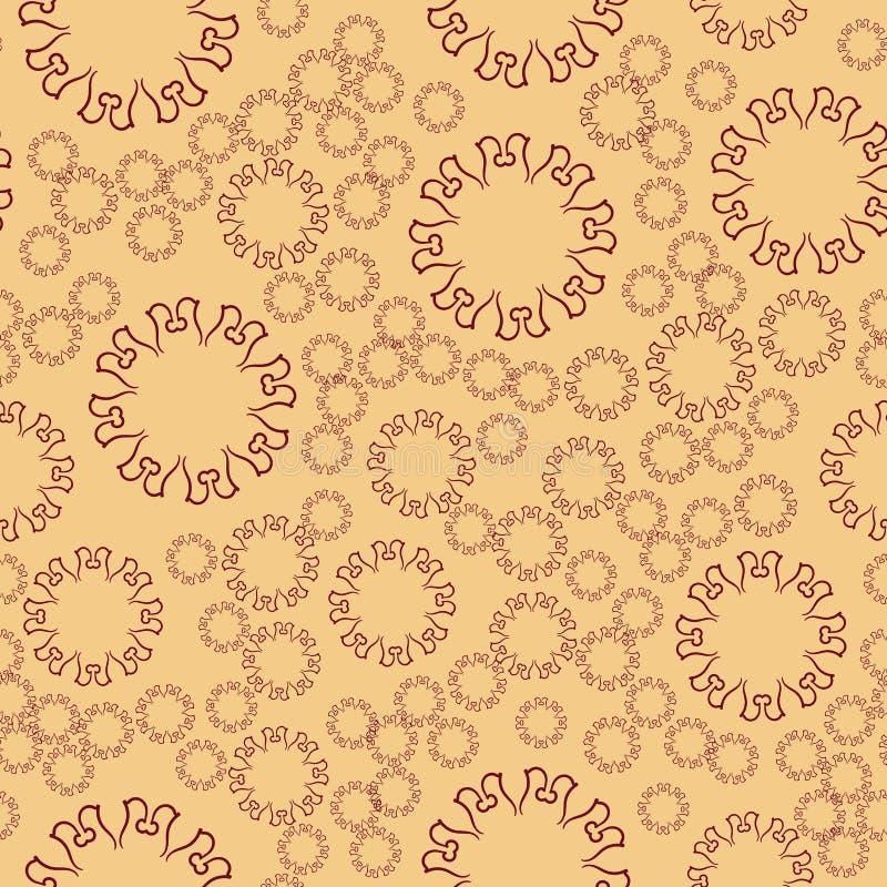 Naadloze mandala van de hennabloem voor druk op textiel, stof, kleurende boeken en abstracte achtergronden stock illustratie