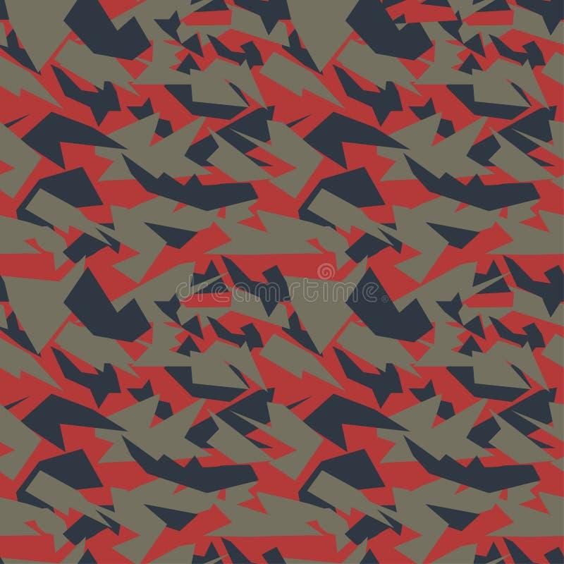 Naadloze militaire camouflagetextuur stock illustratie
