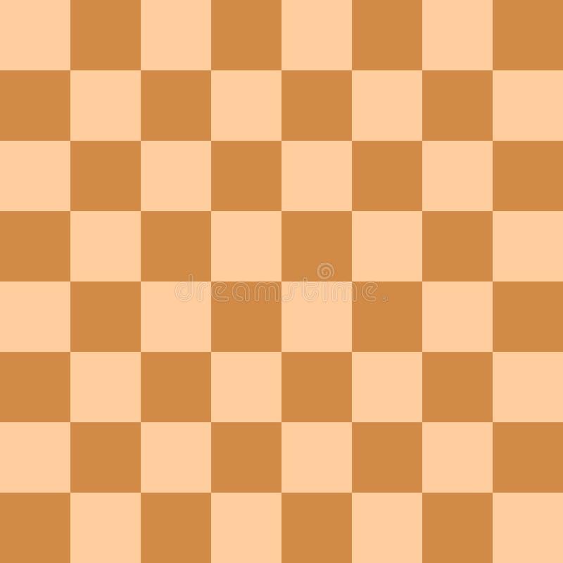 Naadloze moderne oranje en lichtoranje het patroon vectorillustratie van de schaakraad royalty-vrije illustratie