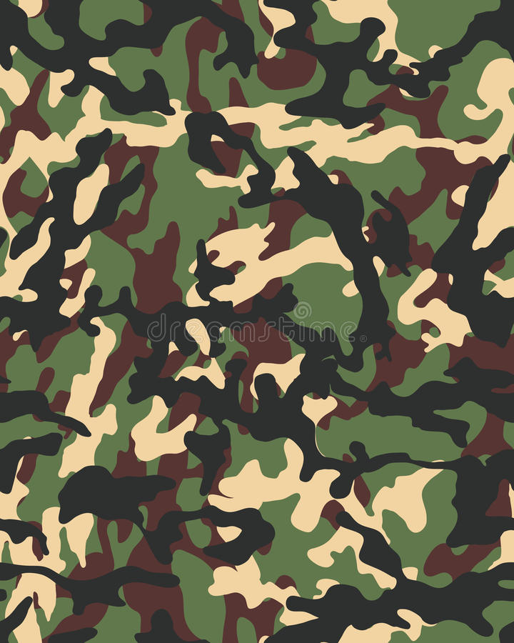 Naadloze modieuze camouflage stock illustratie
