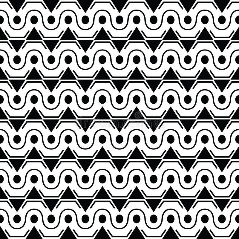 Naadloze modieuze textuur met oude stijl, driehoek en cirkel stock illustratie