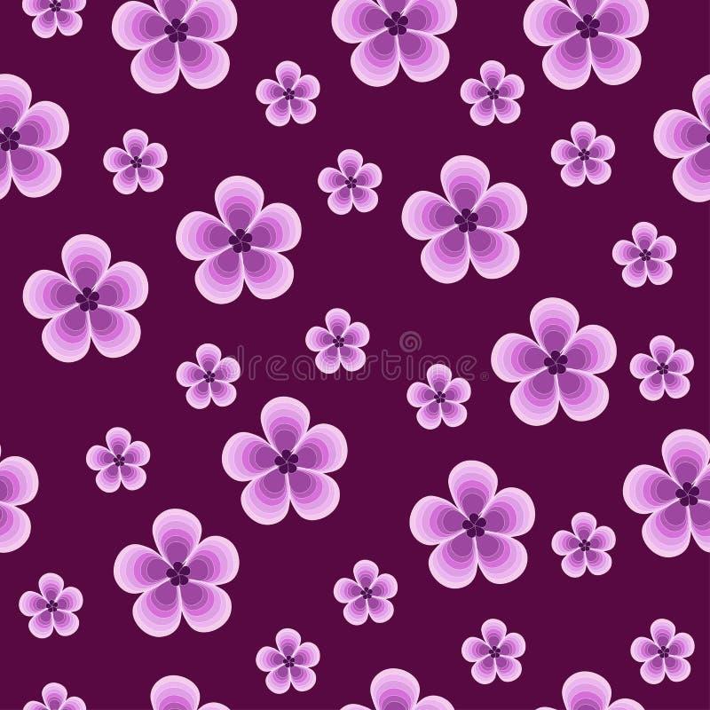 naadloze mooie violette achtergrond met bloemen stock foto