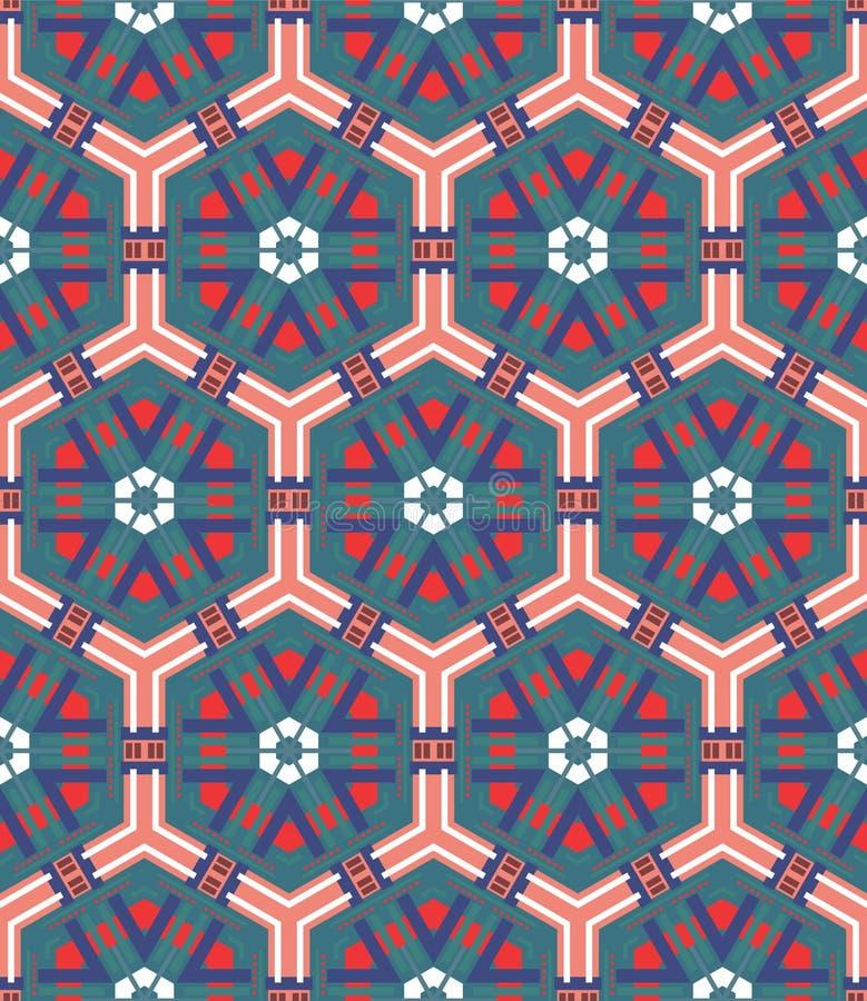 Naadloze mozaïek vlakke blauwe achtergrond vector illustratie