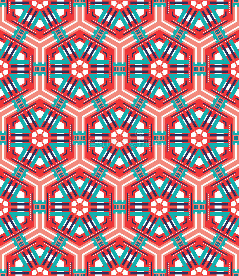 Naadloze mozaïek vlakke rode achtergrond royalty-vrije illustratie