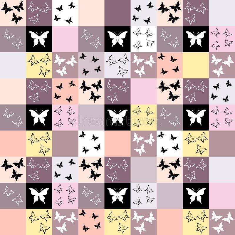 Download Naadloze Mozaïekachtergrond Met Vlindermotief Vector Illustratie - Illustratie bestaande uit herhaling, roze: 54085685