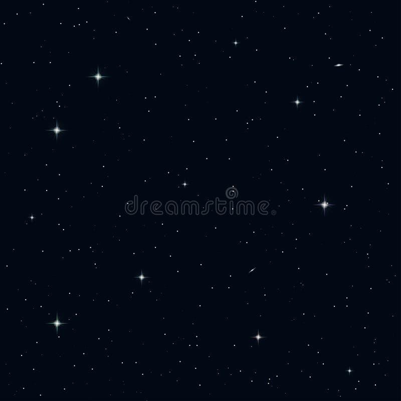 Naadloze nachthemel royalty-vrije illustratie