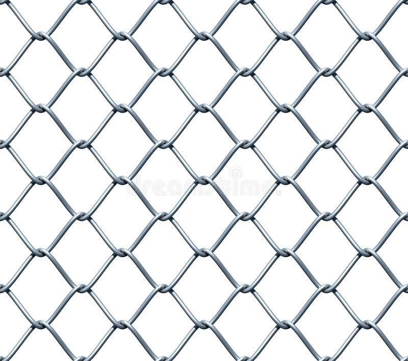 Naadloze Omheining Chainlink vector illustratie