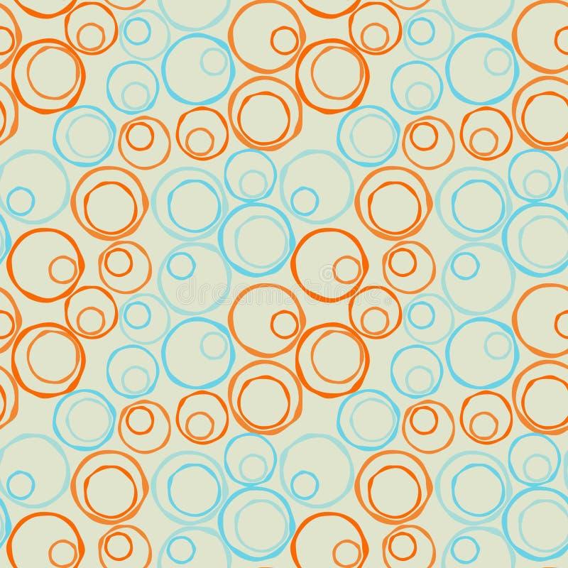 Naadloze onregelmatige cirkelsdiagonaal vector illustratie