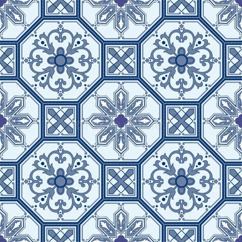 Naadloze oosterse patroonachtergrond vector illustratie