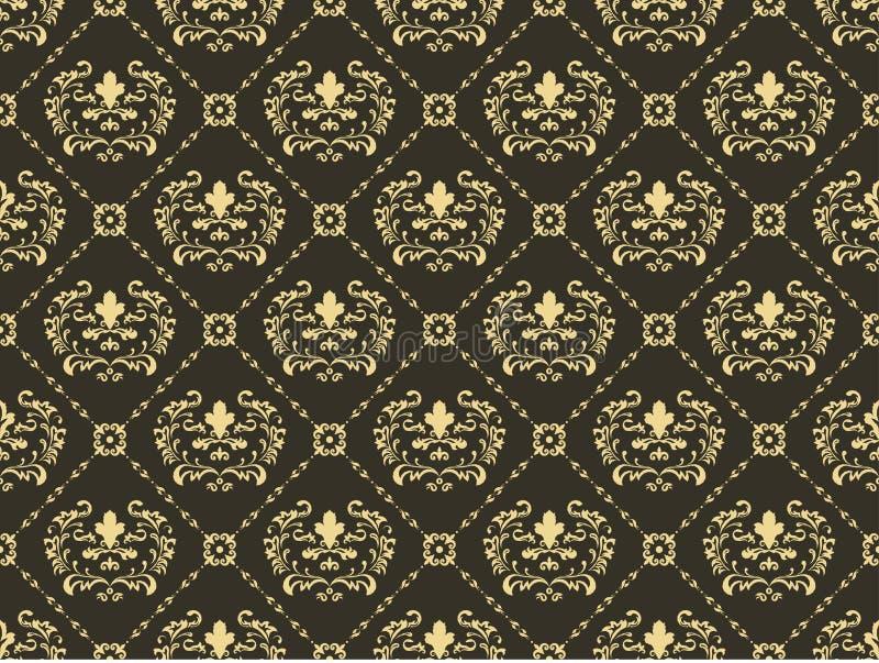 Naadloze ornamentachtergrond royalty-vrije illustratie