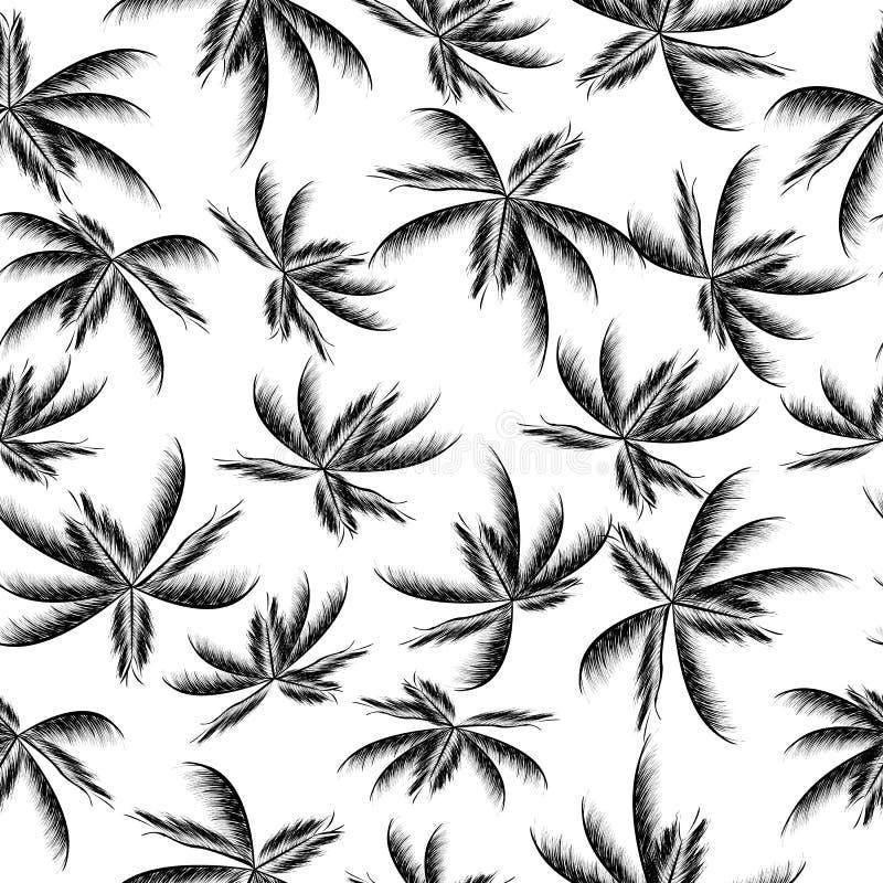 Naadloze palmbladen vector illustratie