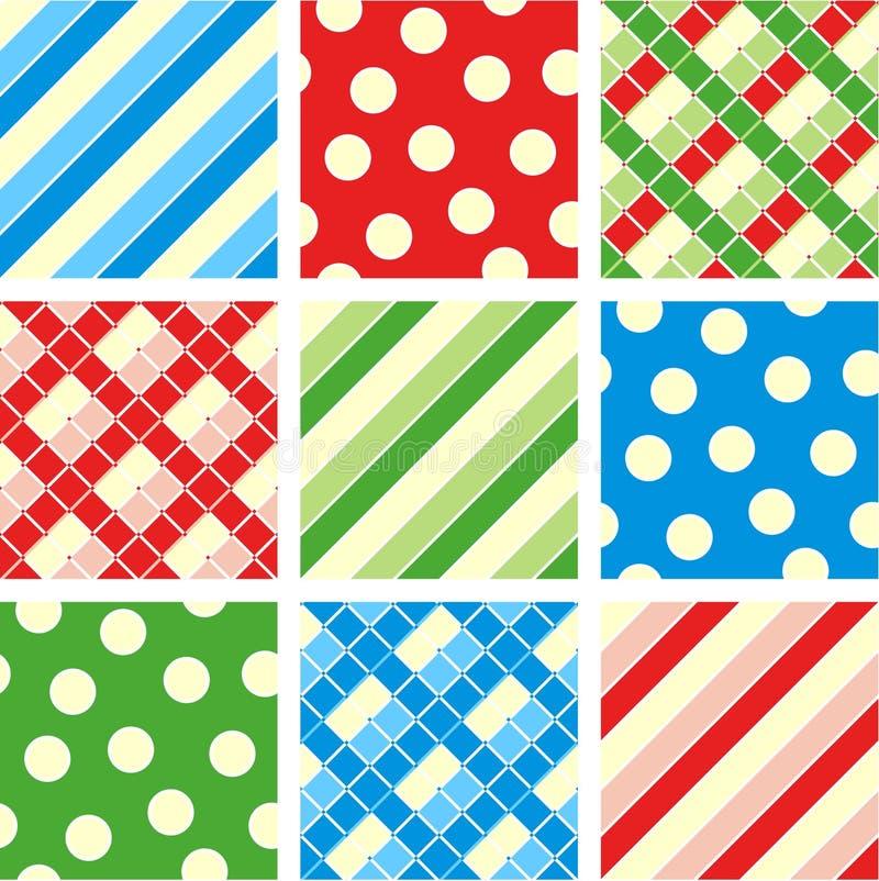 Naadloze patronen (achtergronden) stock illustratie