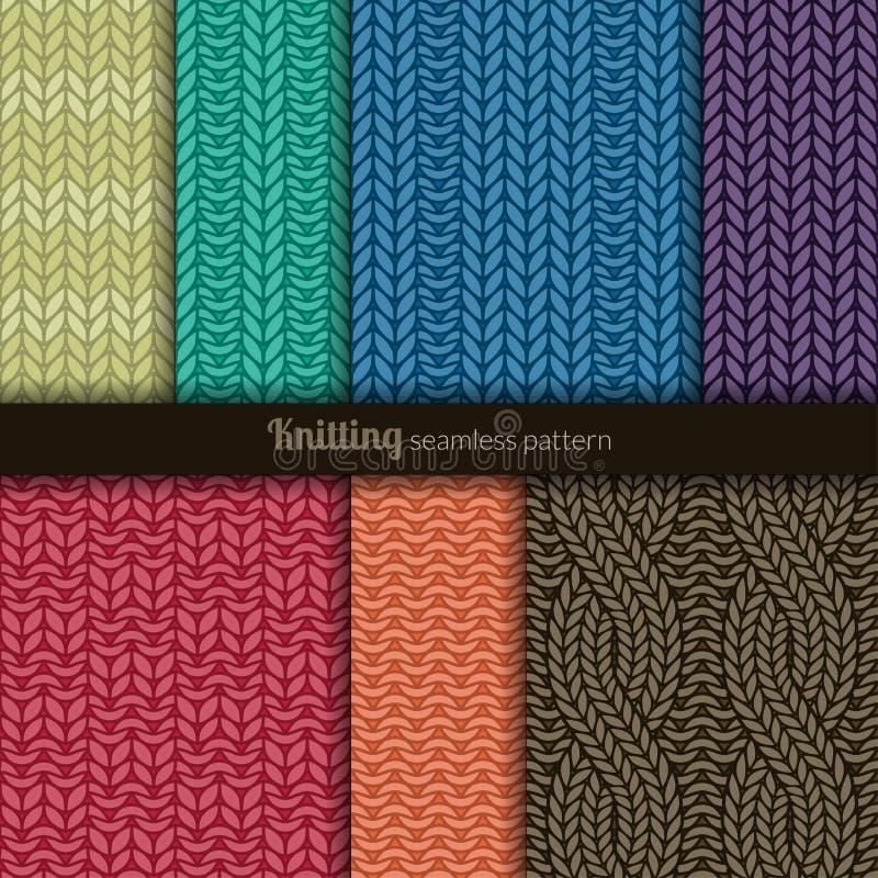 Naadloze patronen die stijl breien vector illustratie