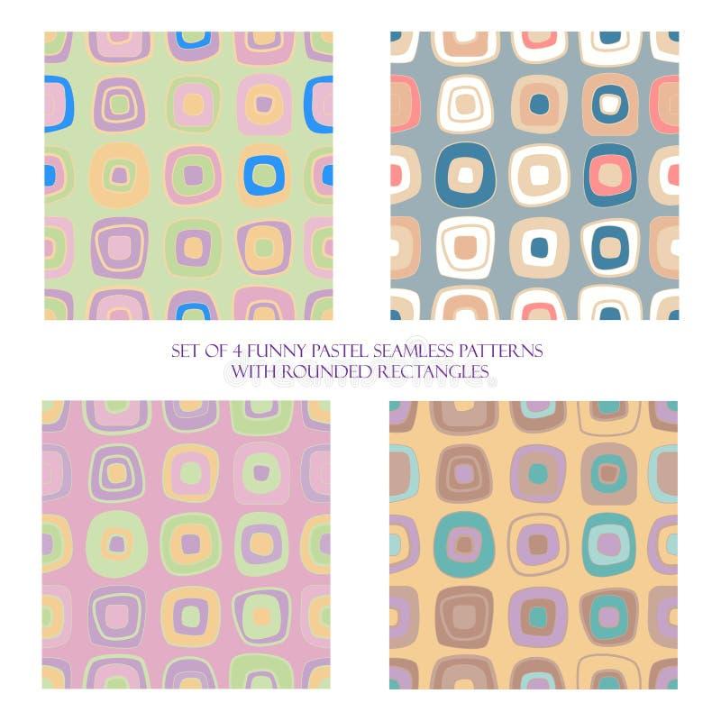 Naadloze patronen met rond gemaakte rechthoeken royalty-vrije illustratie