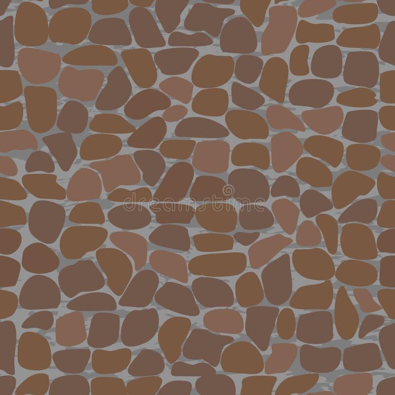 Naadloze patronen met stenen. vector illustratie