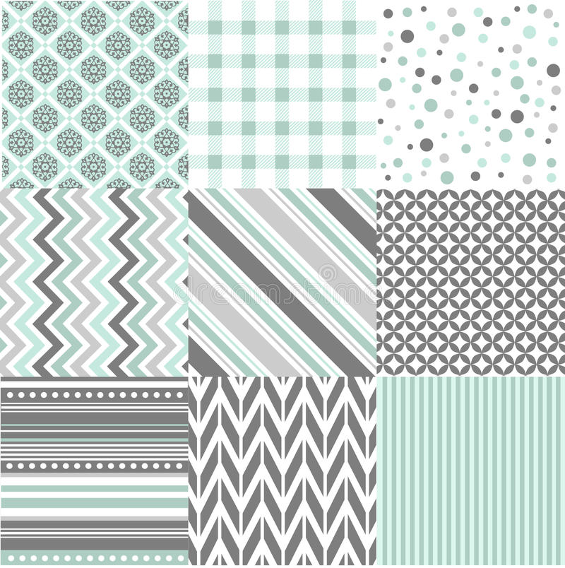 Naadloze patronen met stoffentextuur royalty-vrije illustratie