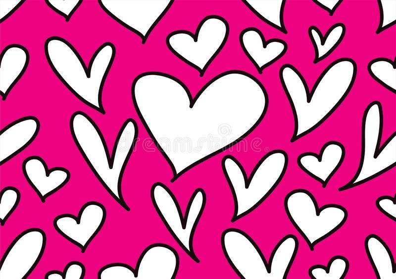 Naadloze patronen met zwarte harten, Liefdeachtergrond, de vector van de hartvorm, valentijnskaartendag, textuur, doek, huwelijk, vector illustratie