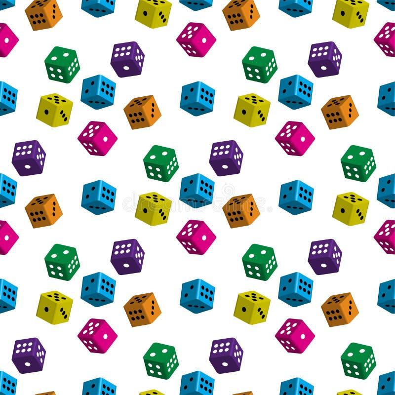 Naadloze patronen van kleurrijke kubussen vector illustratie