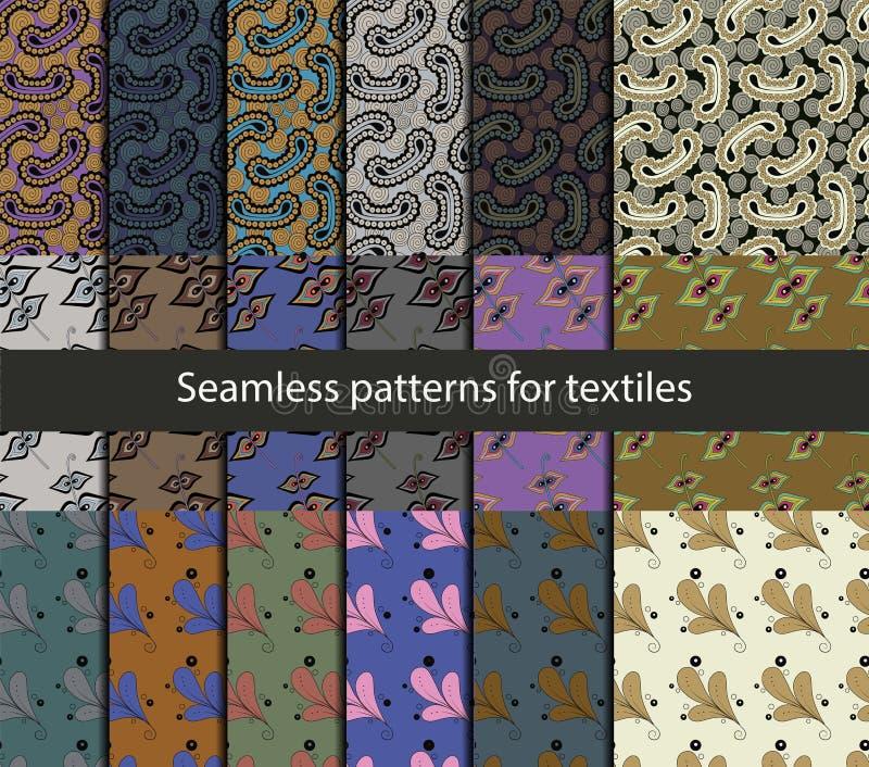 Naadloze patronen voor textiel vector illustratie