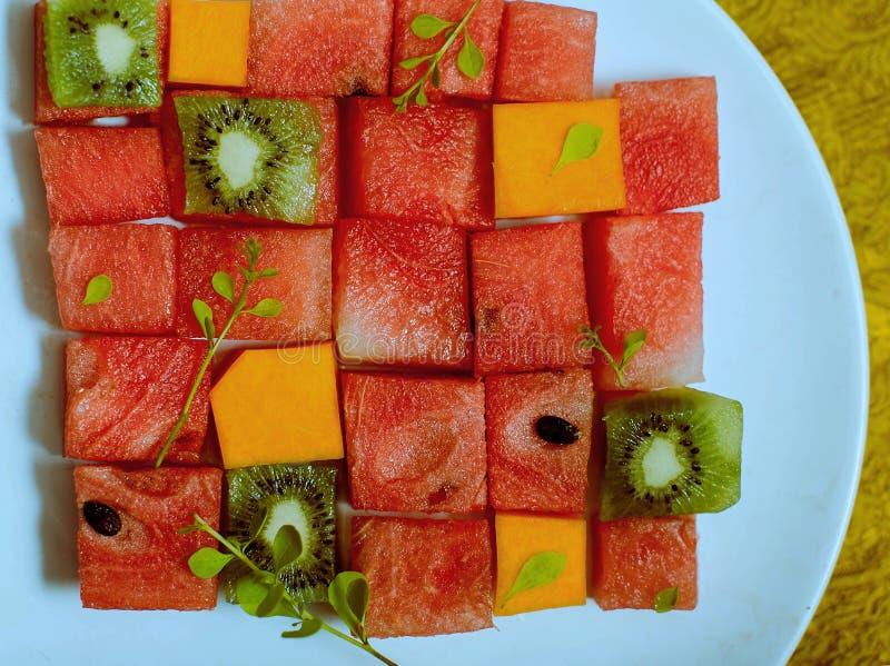 Naadloze patroon als achtergrond en textuur van tropisch fruit stock afbeelding