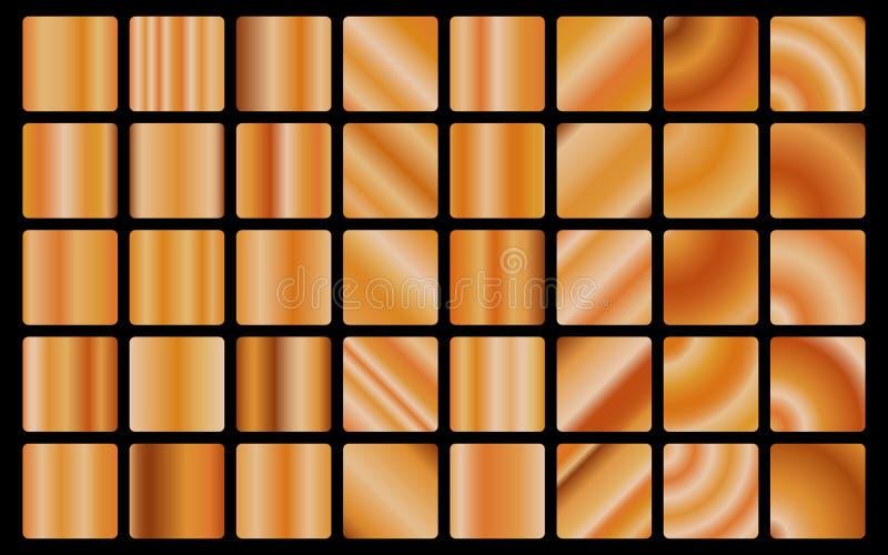 Naadloze patroon brons van het achtergrondtextuur het vectorpictogram Illustratio van de lichte, realistische, elegante, glanzend vector illustratie