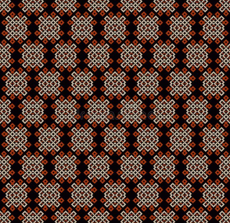 Naadloze patroon decoratieve symmetrie, de vectorillustratie van het ornamentpatroon royalty-vrije illustratie