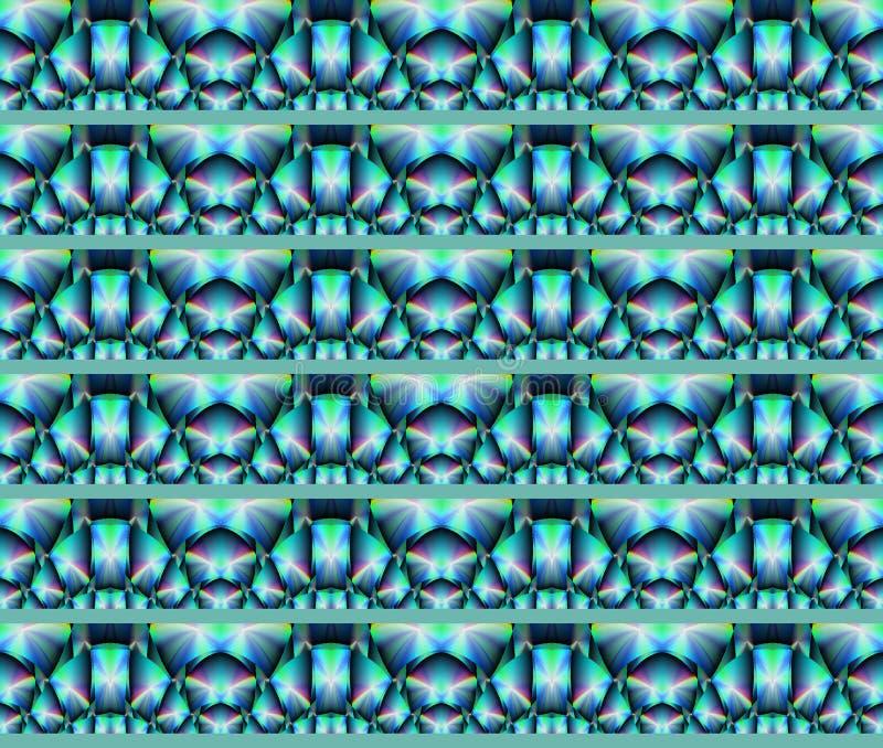 Naadloze patroon turkooise purple verticaal stock illustratie