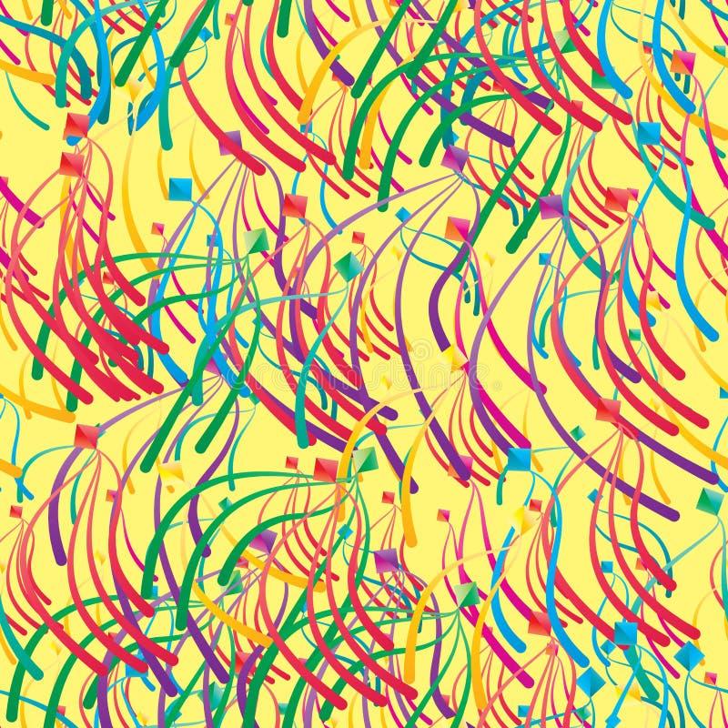 Naadloze patroon van de diamant het gelukkige vlieg vector illustratie