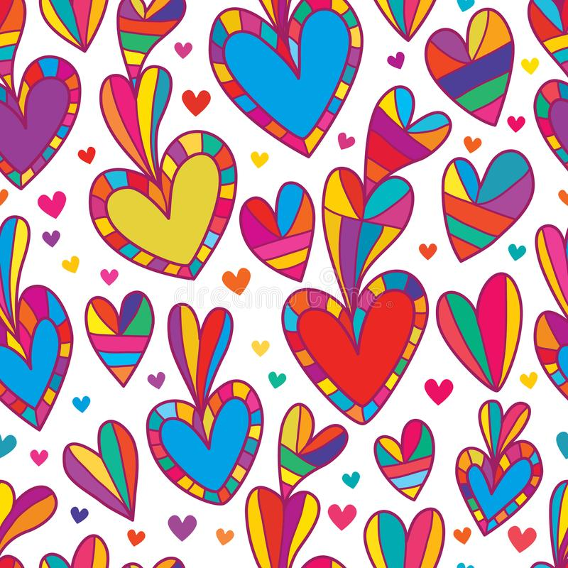 Naadloze patroon van de liefde het onvaste richting royalty-vrije illustratie