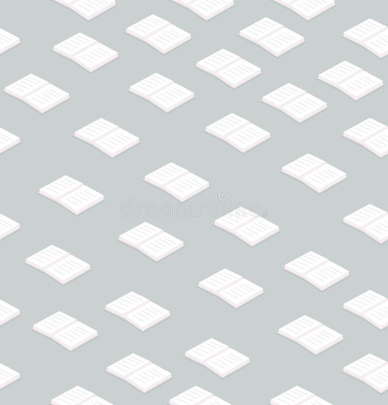 Naadloze patroon van het boeken het vlakke ontwerp stock illustratie