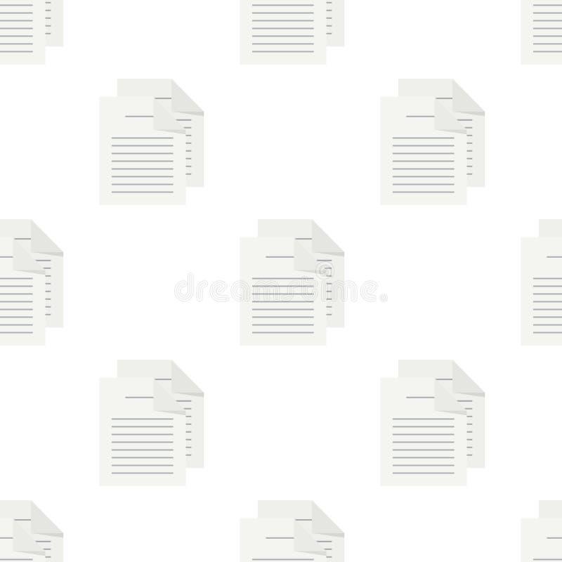 Naadloze Patroon van het documenten het Vlakke Pictogram stock illustratie