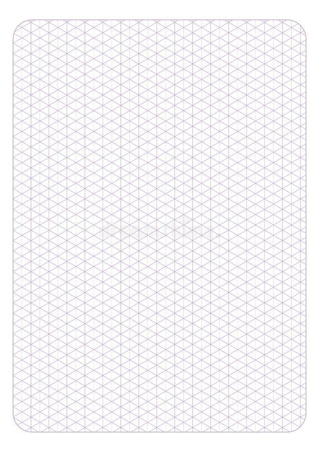 Naadloze patroon van het malplaatje het isometrische net, vectorillustratie, stock illustratie