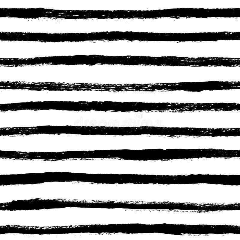 Naadloze patroon van inkt het abstracte stroken Achtergrond met artistiek s royalty-vrije illustratie